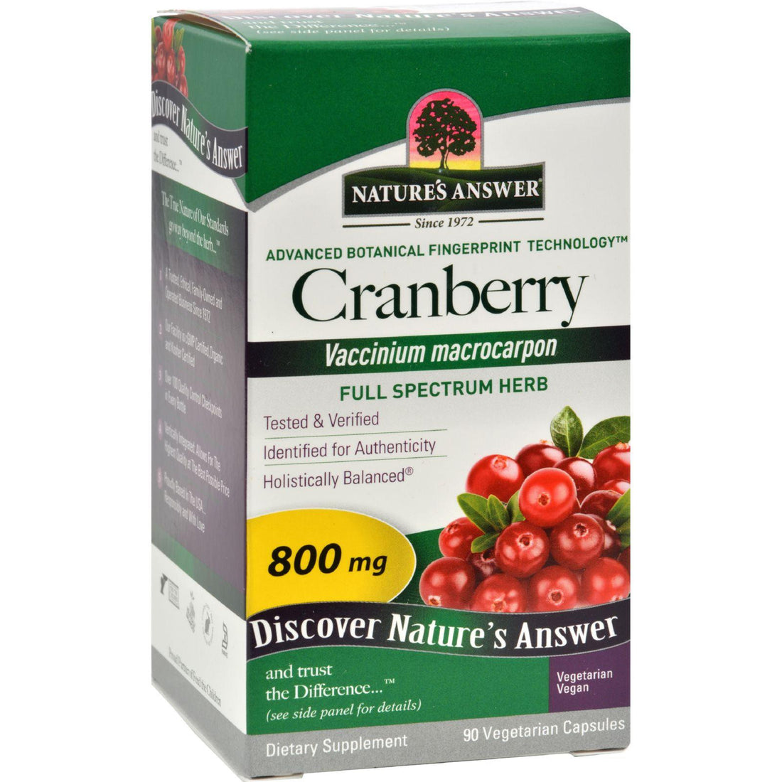 Mother Mantis: Nature's Answer Cranberry Fruit - 90 Vegetarian Capsules Nature's Answer