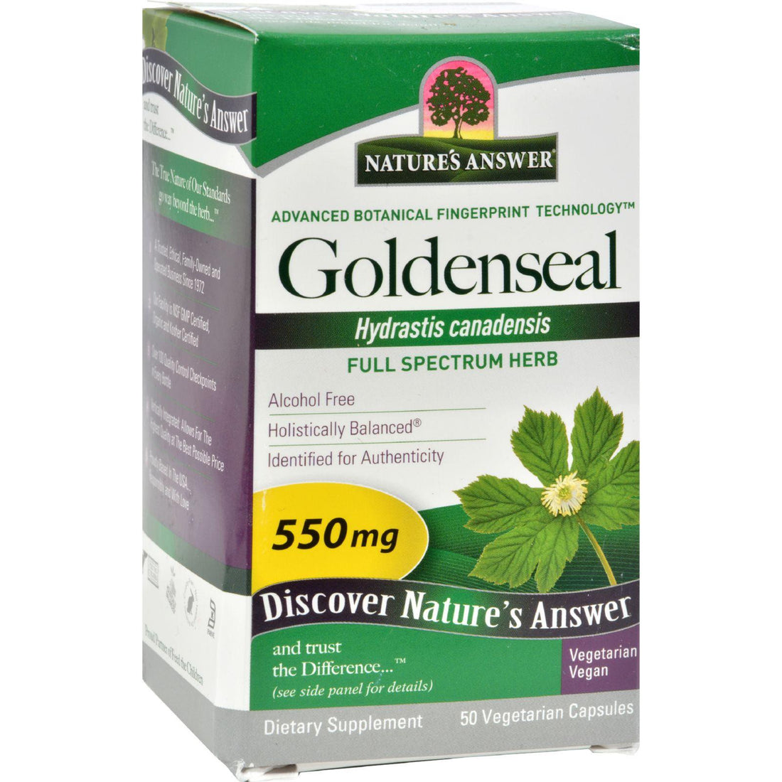 Mother Mantis: Nature's Answer Goldenseal Root - 50 Vegetarian Capsules Nature's Answer
