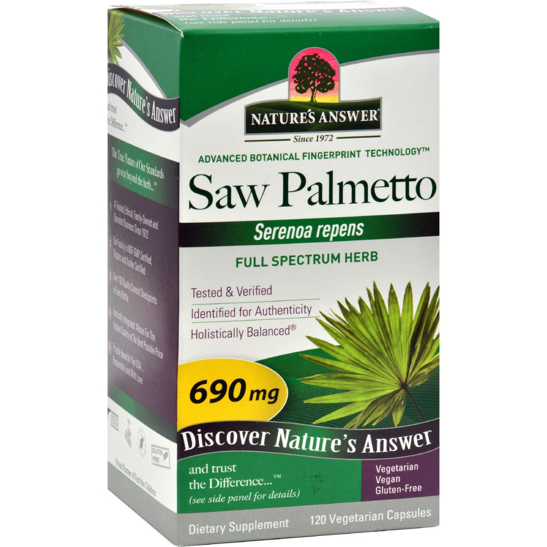 Mother Mantis: Nature's Answer Saw Palmetto Berry Extract - 120 Vcaps Nature's Answer