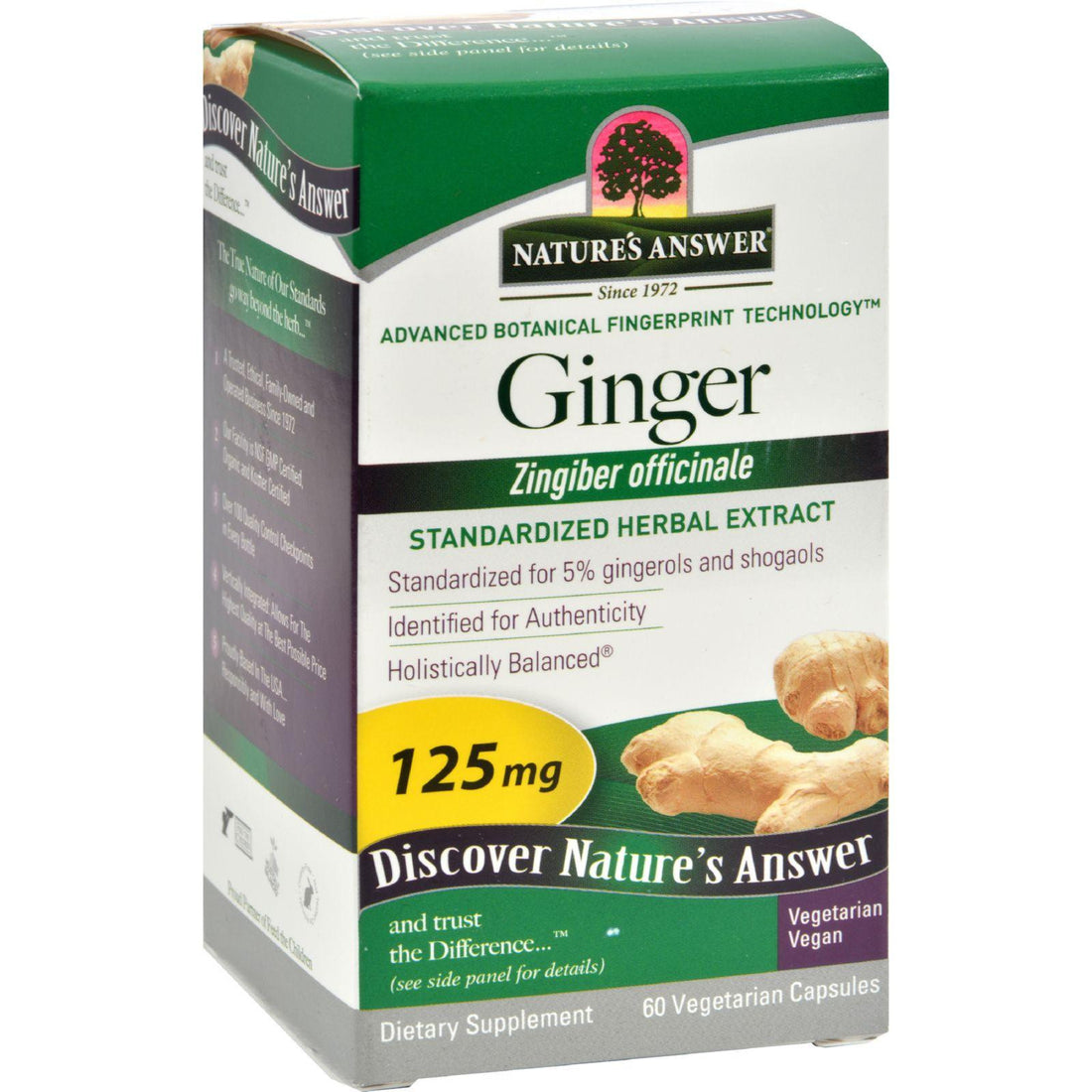Mother Mantis: Nature's Answer Ginger Rhizome - 60 Vegetarian Capsules Nature's Answer