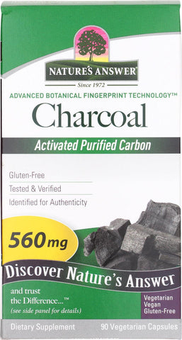 Natures Answer Charcoal - Activated Purified - 90 Softgels Nature's Answer