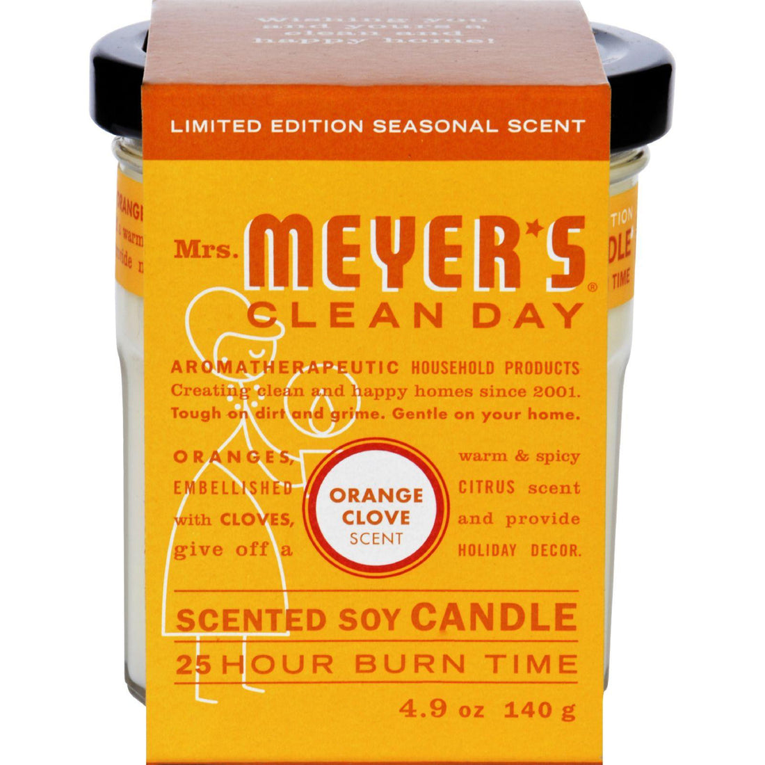 Mother Mantis: Mrs. Meyer's Soy Candle - Orange Clove - Case Of 6 - 4.9 Oz Candles Mrs. Meyer's