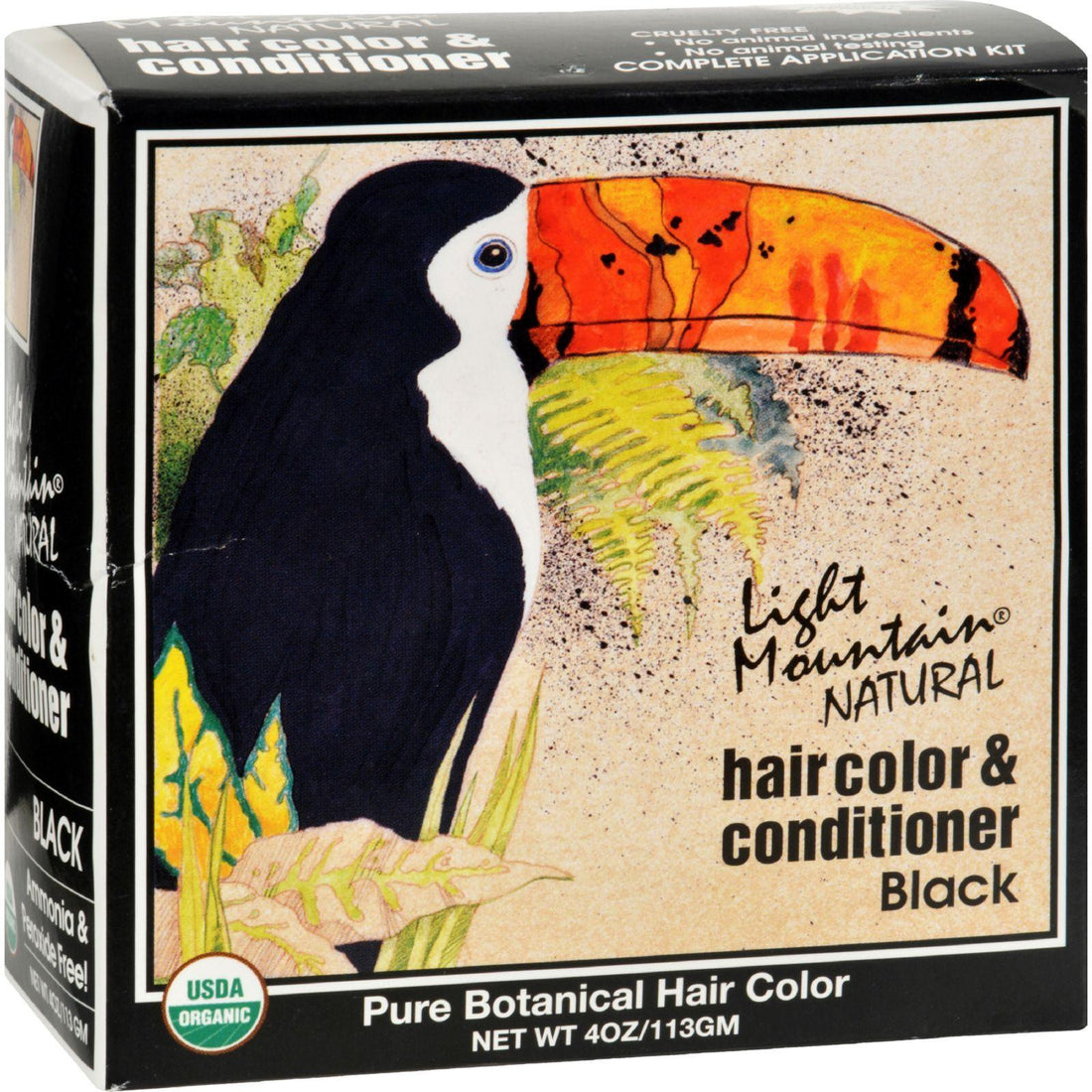 Mother Mantis: Light Mountain Natural Hair Color And Conditioner Black - 4 Fl Oz Light Mountain