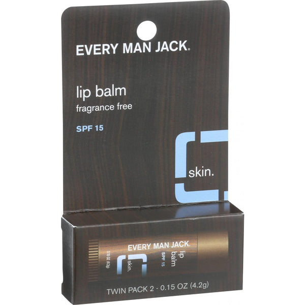Mother Mantis: Fragrance Free Lip Balm Twin Pack Every Man Jack