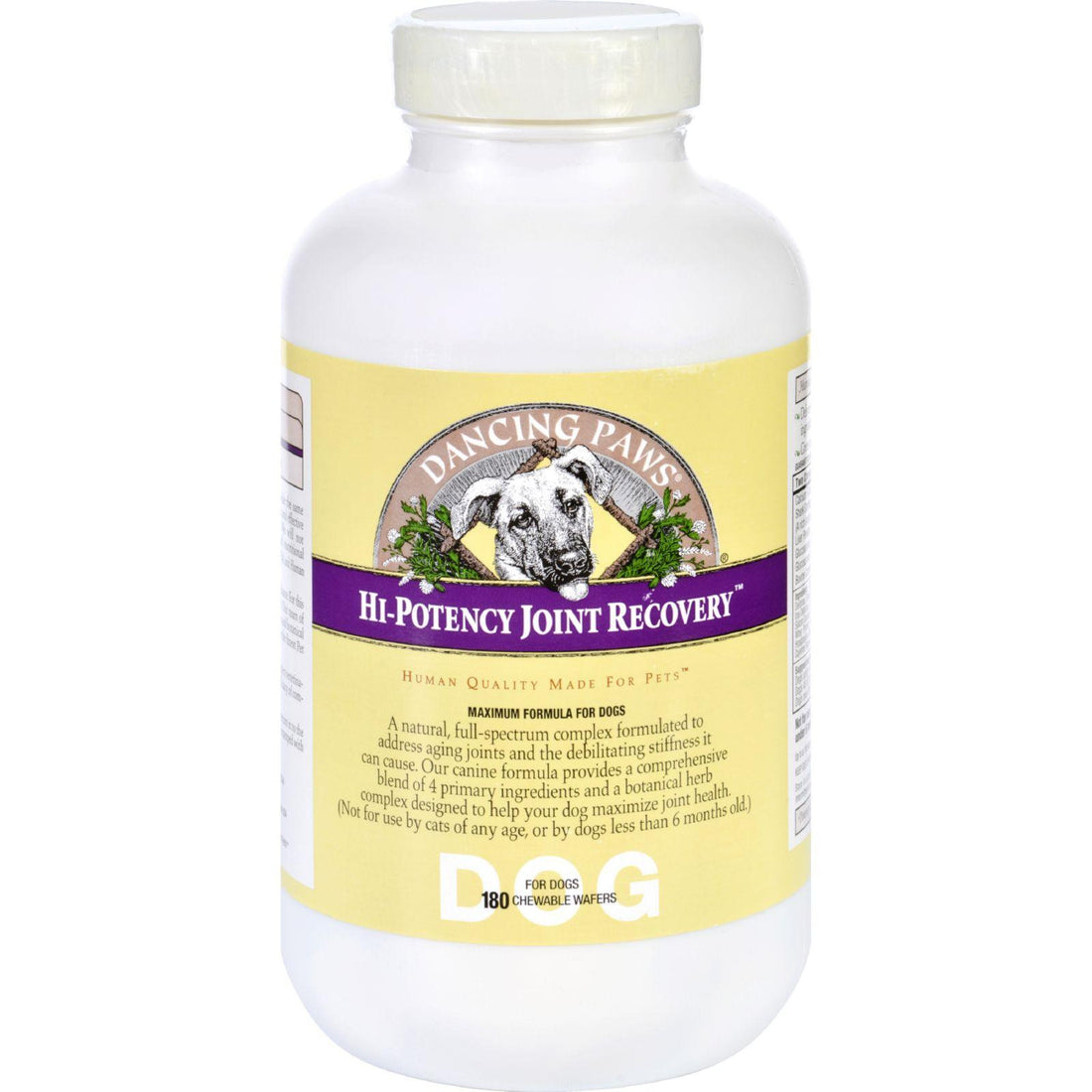 Mother Mantis: Dancing Paws High-potency Joint Recovery - Canine - 180 Wafers Dancing Paws