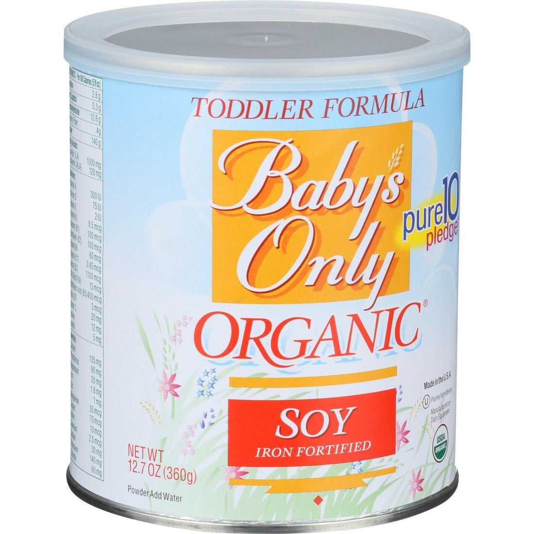 Mother Mantis: Baby's Only Organic Toddler Formula - Soy - 12.7 Oz Baby's Only Organic