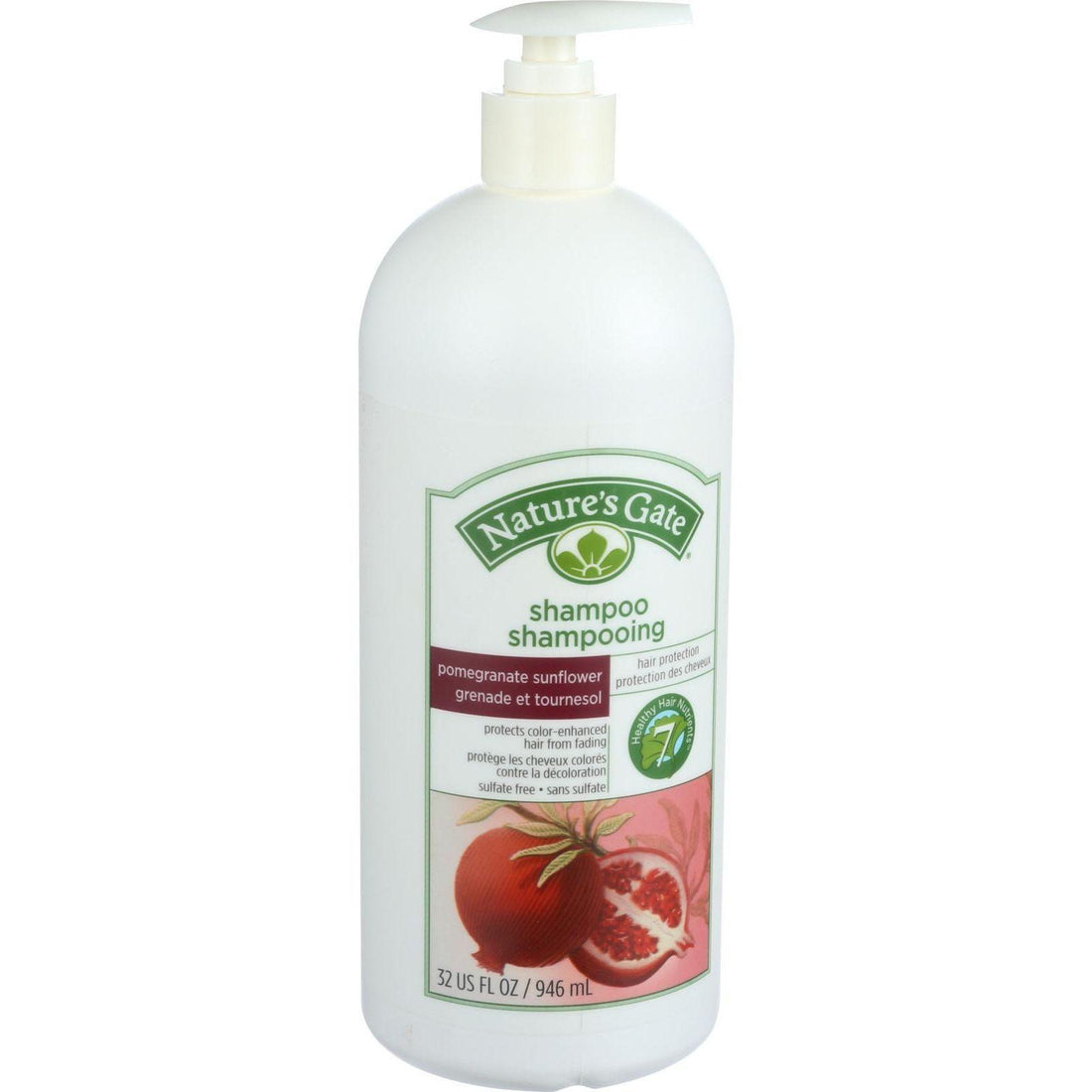 Mother Mantis: Nature's Gate Shampoo - Pomegranate And Sunflower Hair Defense - 32 Oz Nature's Gate