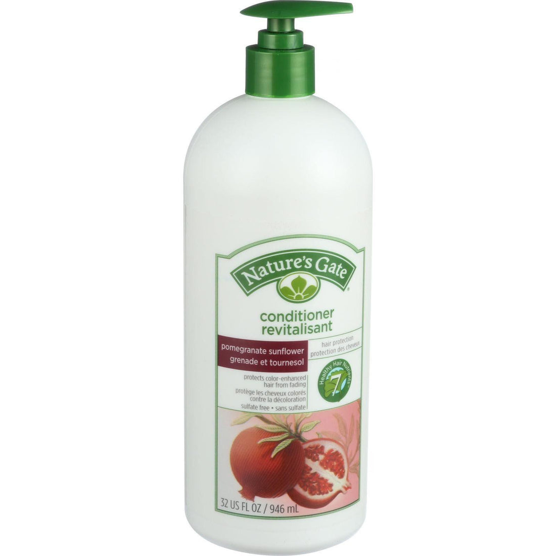 Mother Mantis: Nature's Gate Conditioner - Pomegranate And Sunflower Hair Defense - 32 Oz Nature's Gate