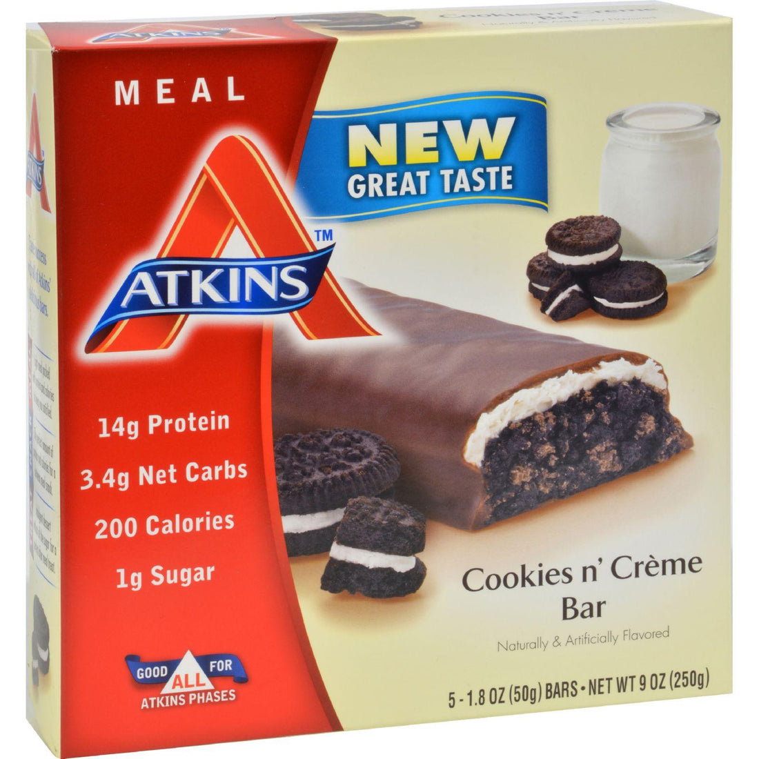 Mother Mantis: Atkins Advantage Bar Cookies N Creme - 5 Bars Atkins