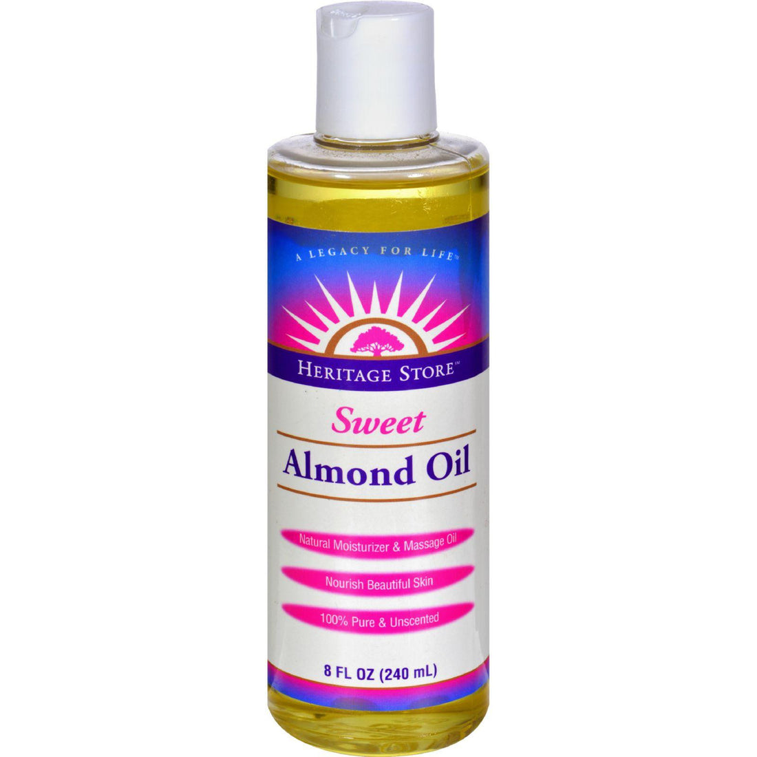 Mother Mantis: Heritage Products Sweet Almond Oil - 8 Fl Oz Heritage Products