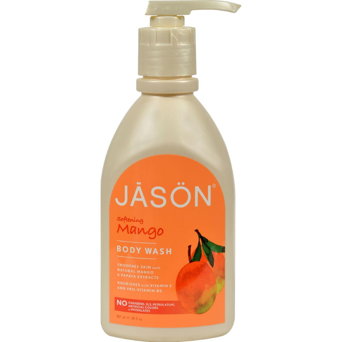 Mother Mantis: Jason Satin Shower Body Wash Mango - 30 Fl Oz Jason Natural Products