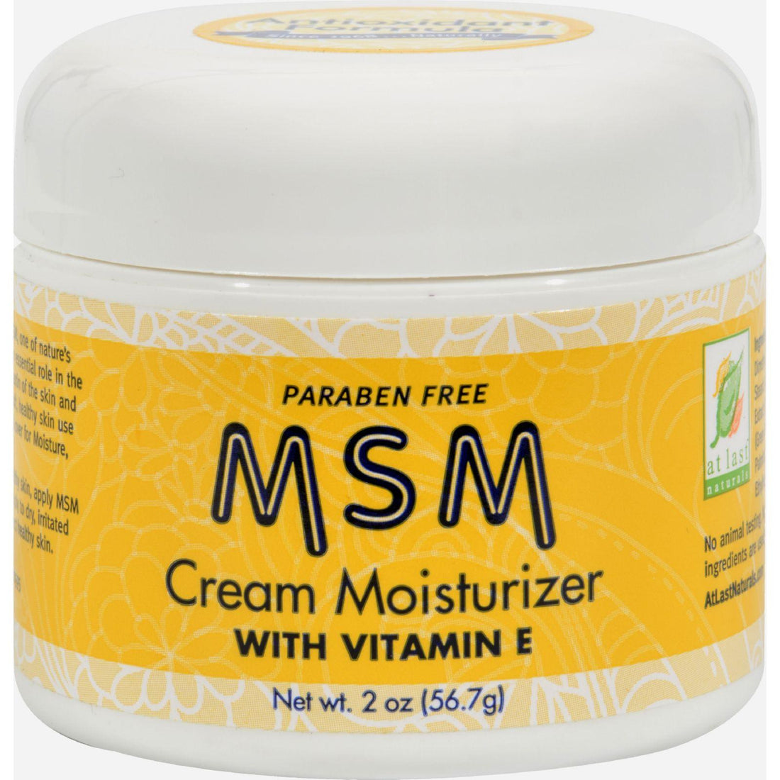 Mother Mantis: At Last Naturals Msm Cream Moisturizer With Vitamin E - 2 Oz At Last Naturals