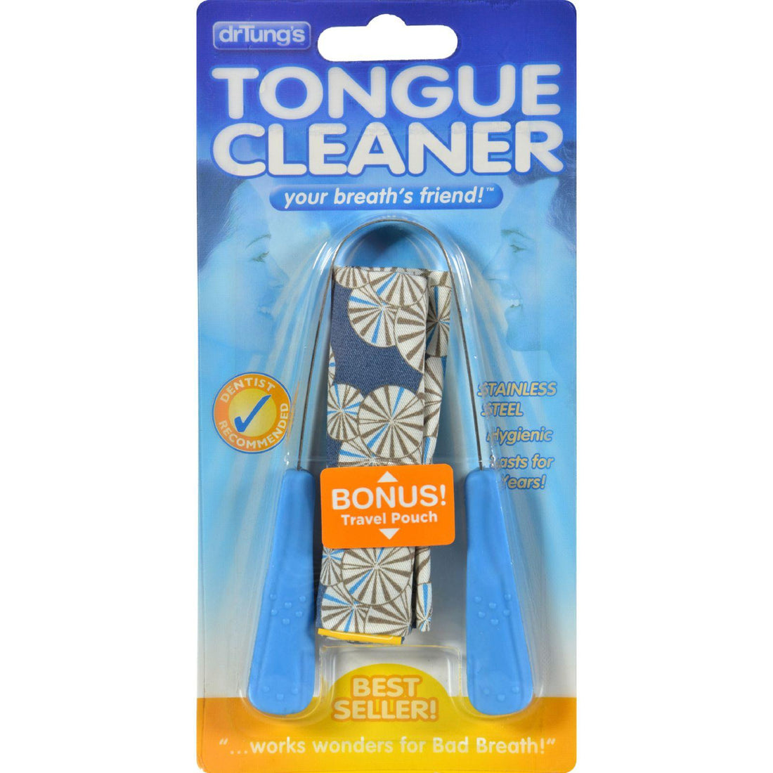 Mother Mantis: Dr. Tungs Stainless Steel Tongue Cleaner - 1 Tongue Cleaner - Case Of 12 Dr. Tung's