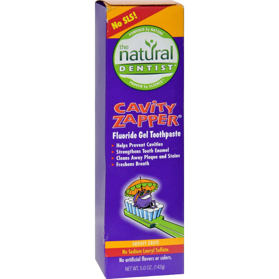 Mother Mantis: Natural Dentist Kids Cavity Zapper Toothpaste Buster Groovy Grape - 5 Oz Natural Dentist