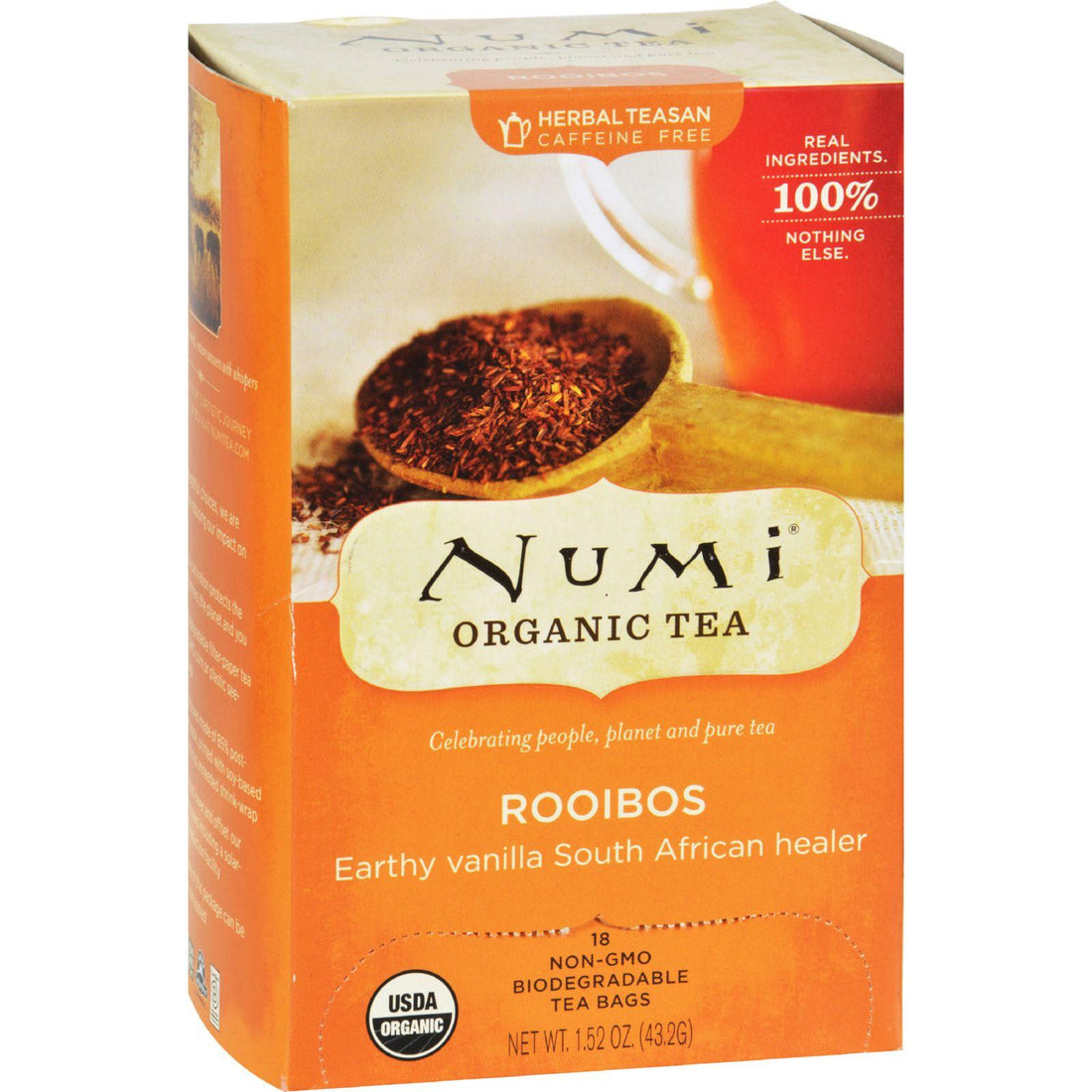 Mother Mantis: Numi Red Mellow Bush Rooibos Tea - 18 Tea Bags - Case Of 6 Numi Tea