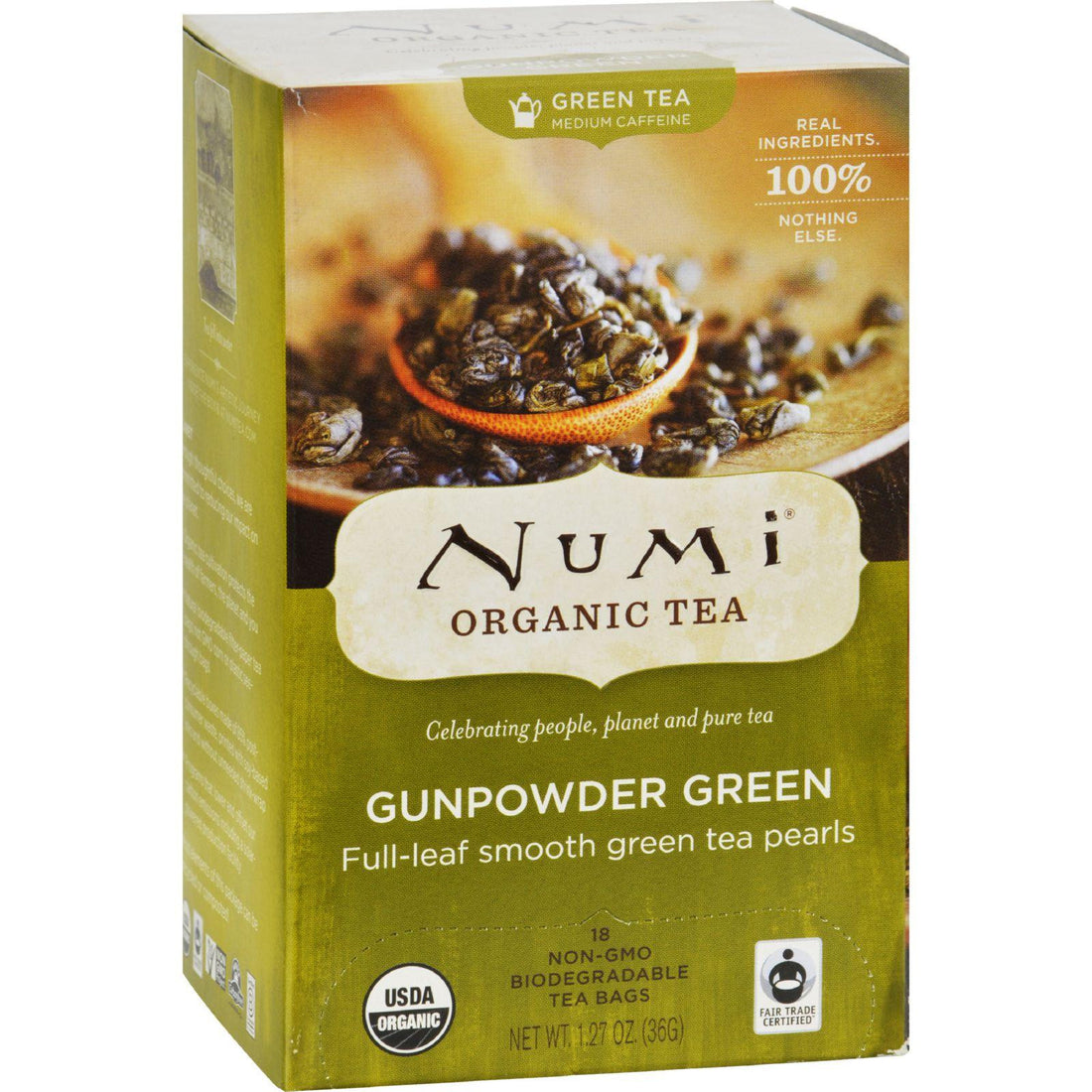 Mother Mantis: Numi Gunpowder Green Tea - 18 Tea Bags - Case Of 6 Numi Tea