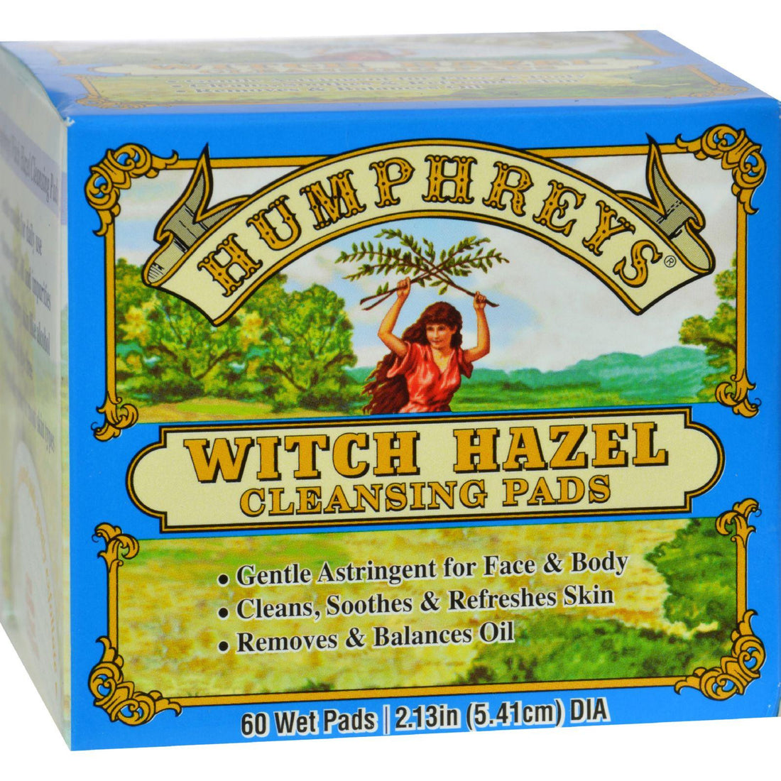 Mother Mantis: Humphrey's Homeopathic Remedy Witch Hazel Cleansing Pads - 60 Pads Humphrey's Homeopathic Remedies