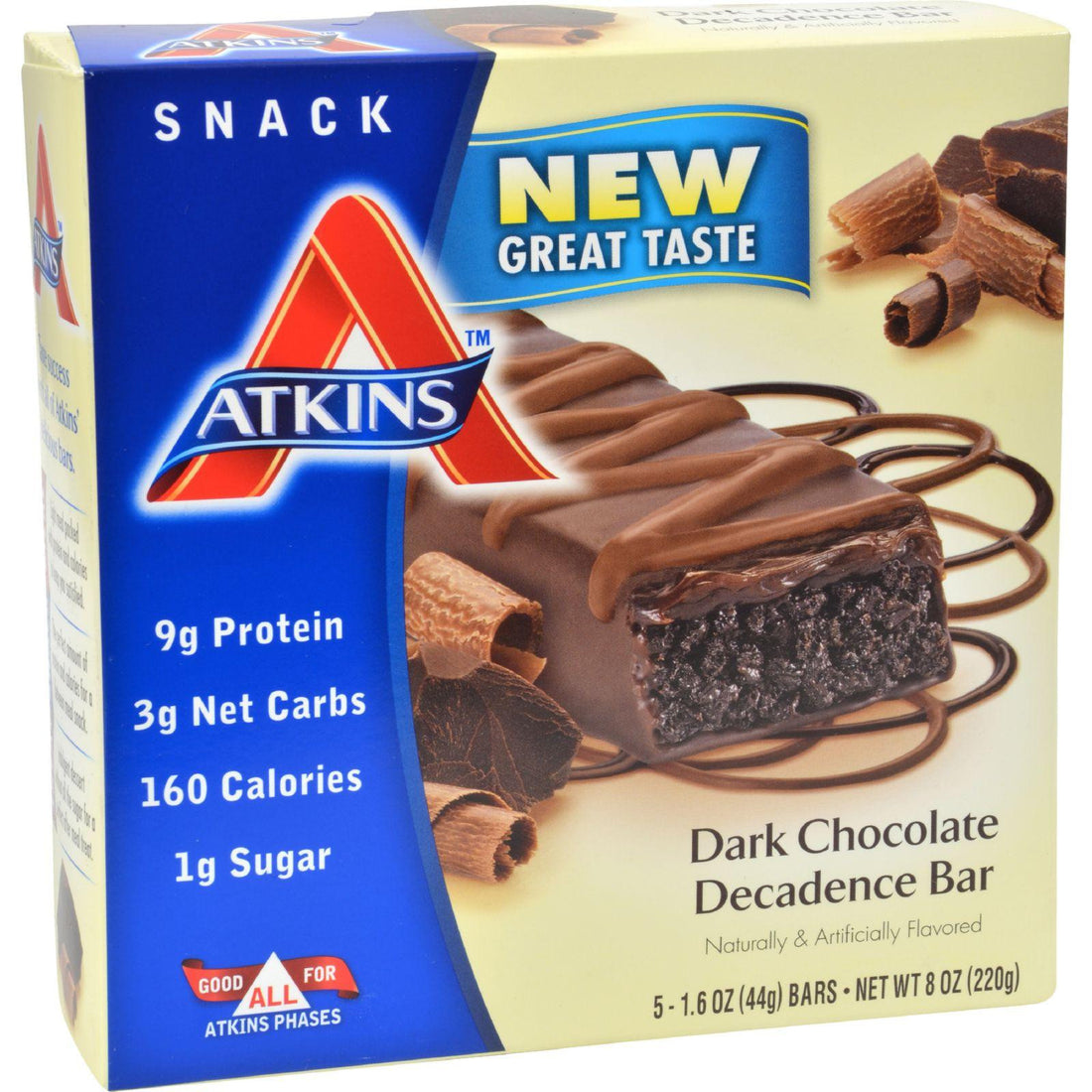 Mother Mantis: Atkins Advantage Bar Dark Chocolate Decadence - 5 Bars Atkins
