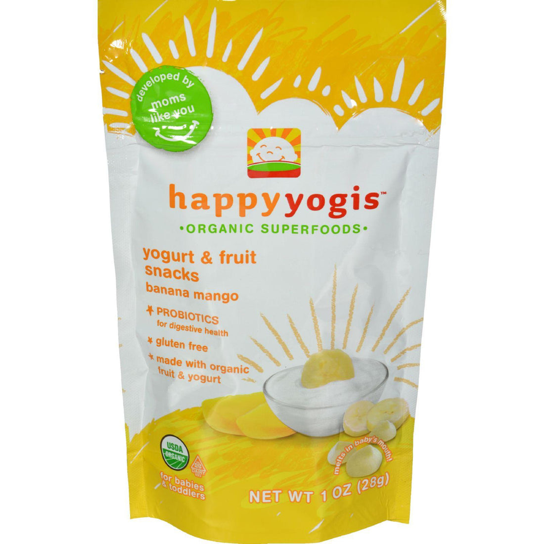 Mother Mantis: Happy Baby Happymelts Organic Yogurt Snacks For Babies And Toddlers Banana Mango - 1 Oz - Case Of 8 Happy Baby