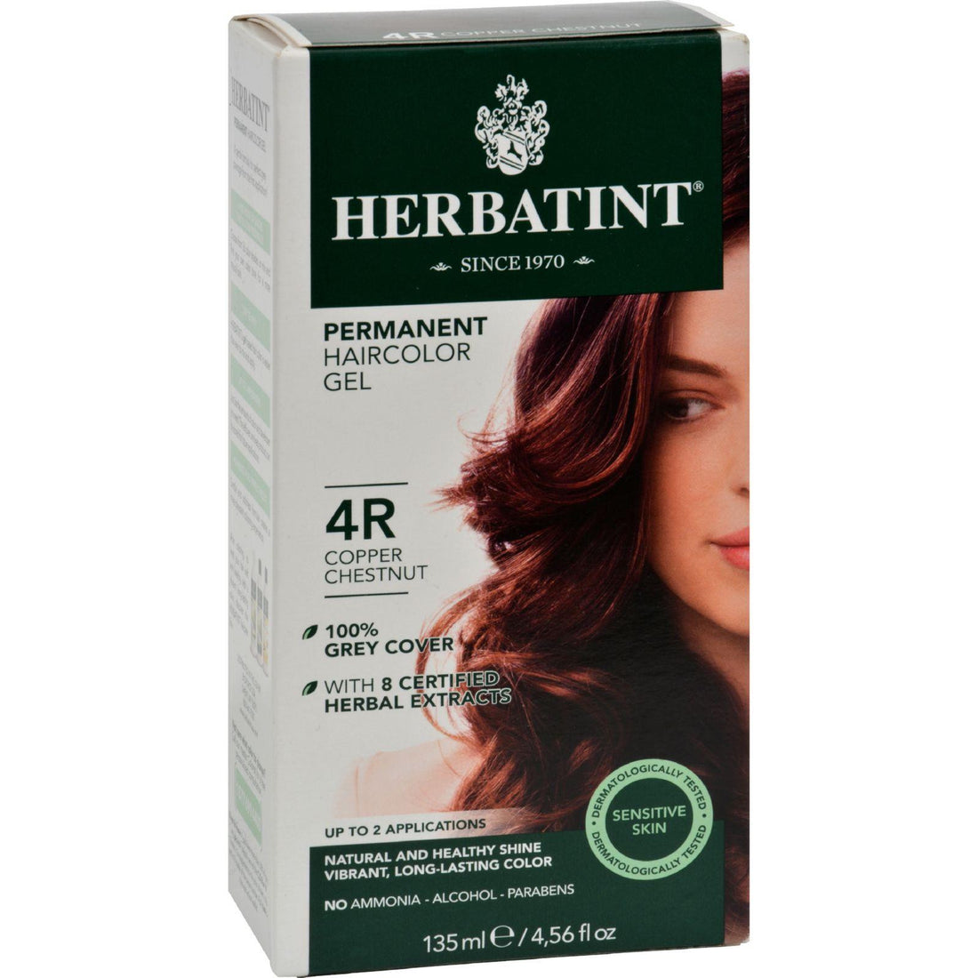 Mother Mantis: Herbatint Permanent Herbal Haircolour Gel 4r Copper Chestnut - 135 Ml Herbatint