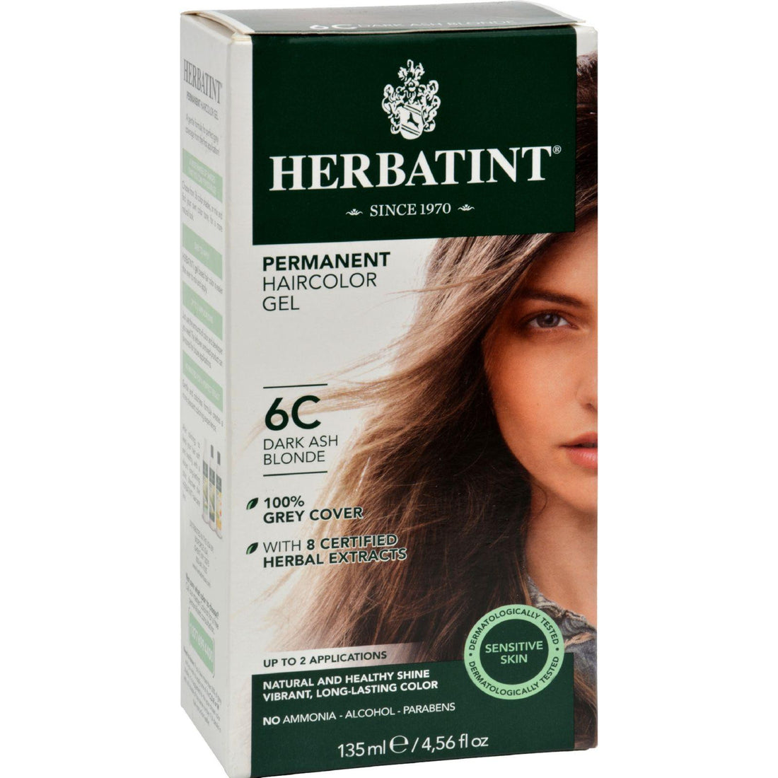 Mother Mantis: Herbatint Permanent Herbal Haircolour Gel 6c Dark Ash Blonde - 135 Ml Herbatint