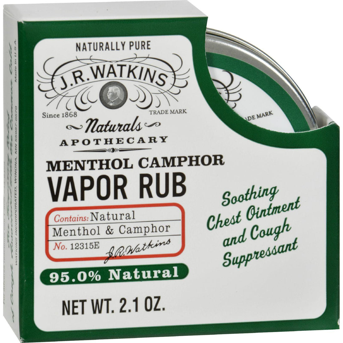 Mother Mantis: J.r. Watkins Menthol Vapor Rub - 2.1 Oz J.r. Watkins