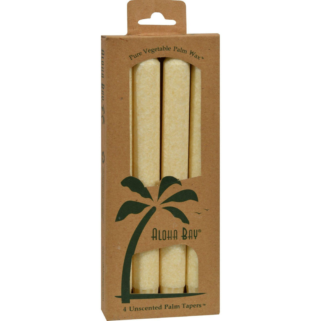 Mother Mantis: Aloha Bay Palm Tapers Cream - 4 Candles Aloha Bay