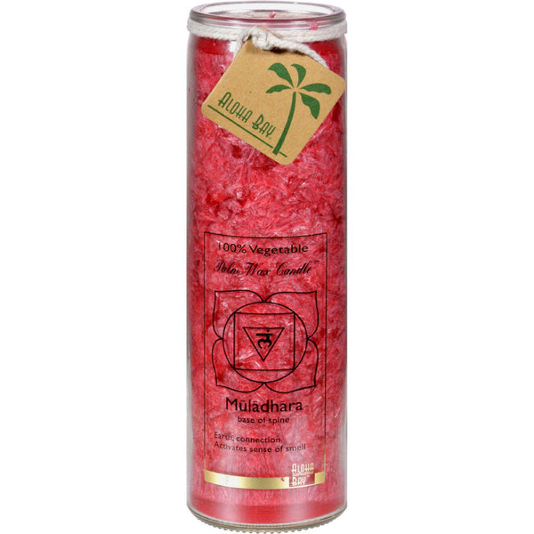Mother Mantis: Aloha Bay Unscented Chakra Jar Money Muladhara Red - 1 Candle Aloha Bay