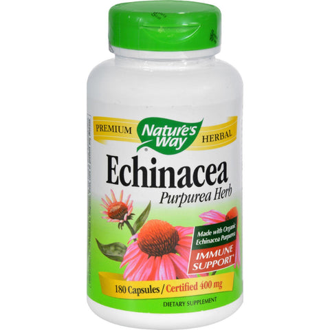 Nature's Way Echinacea Purpurea Herb - 180 Capsules Nature's Way
