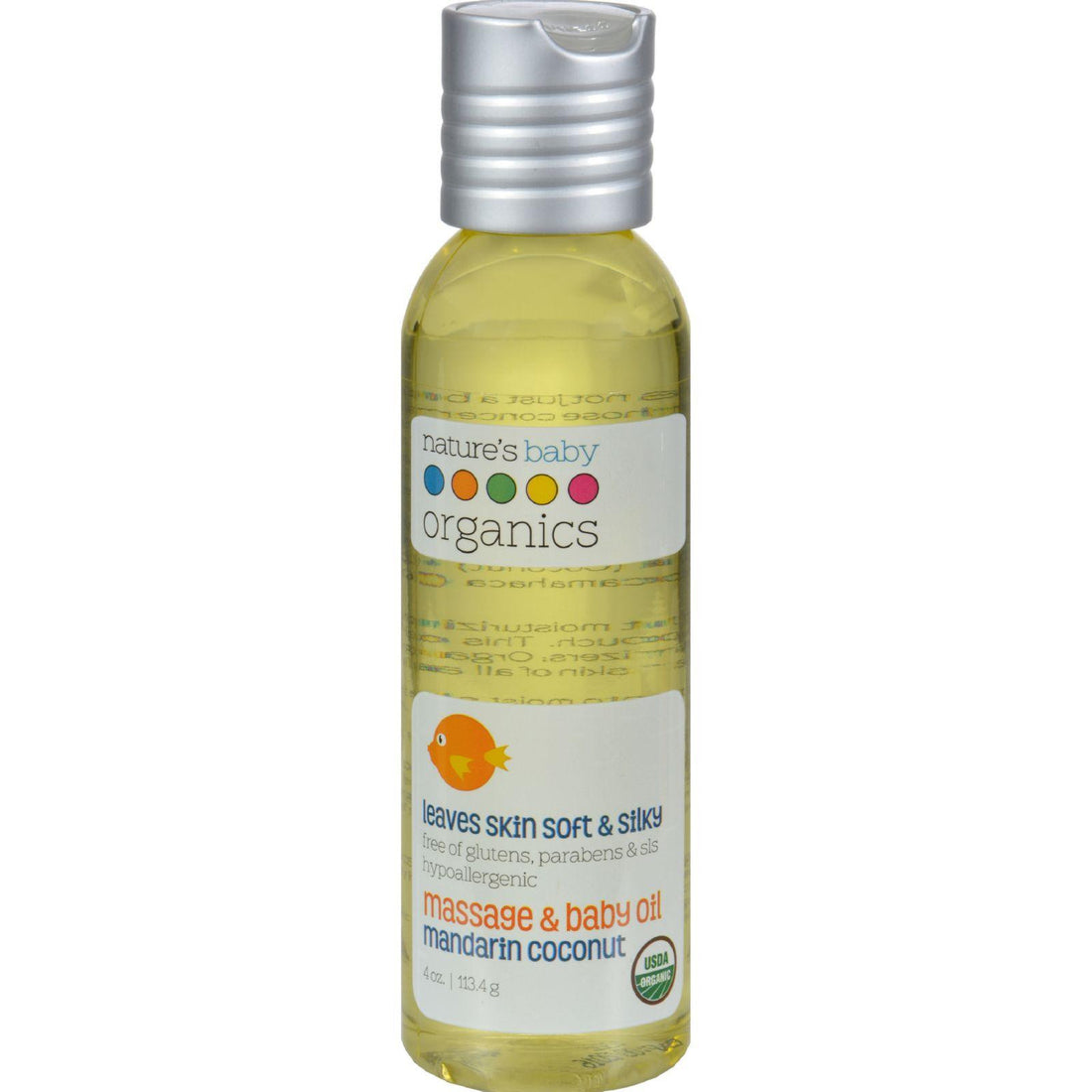 Mother Mantis: Nature's Baby Organics Baby Oil Mandarin Coconut - 4 Fl Oz Nature's Baby Organics