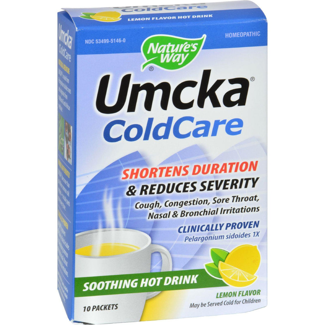 Mother Mantis: Nature's Way Umcka Coldcare Soothing Hot Drink Lemon - 10 Packets Nature's Way
