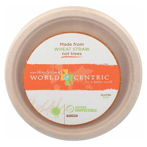 World Centric Fiber Plate - Case Of 12 - 20 Count World Centric