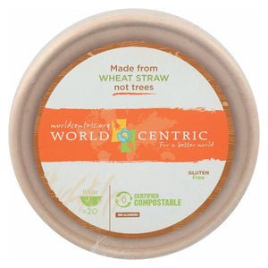 World Centric Wheat Straw Bowl - Case Of 12 - 20 Count World Centric