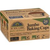 If You Care Baking Cups - Jumbo - Unbleached Totally Chlorine Free - 24 Count If You Care