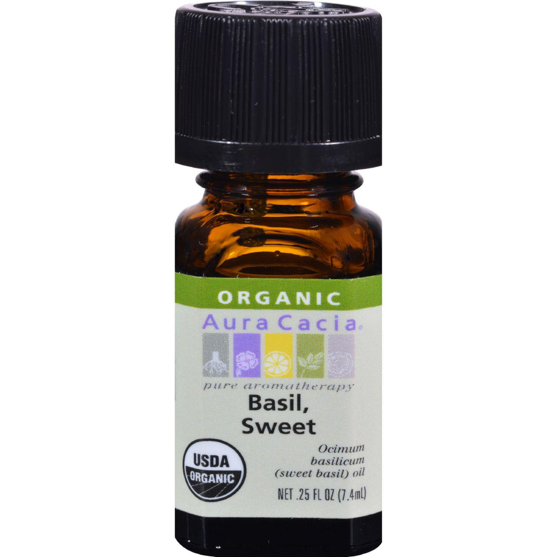 Mother Mantis: Aura Cacia Organic Basil Sweet - .25 Oz Aura Cacia