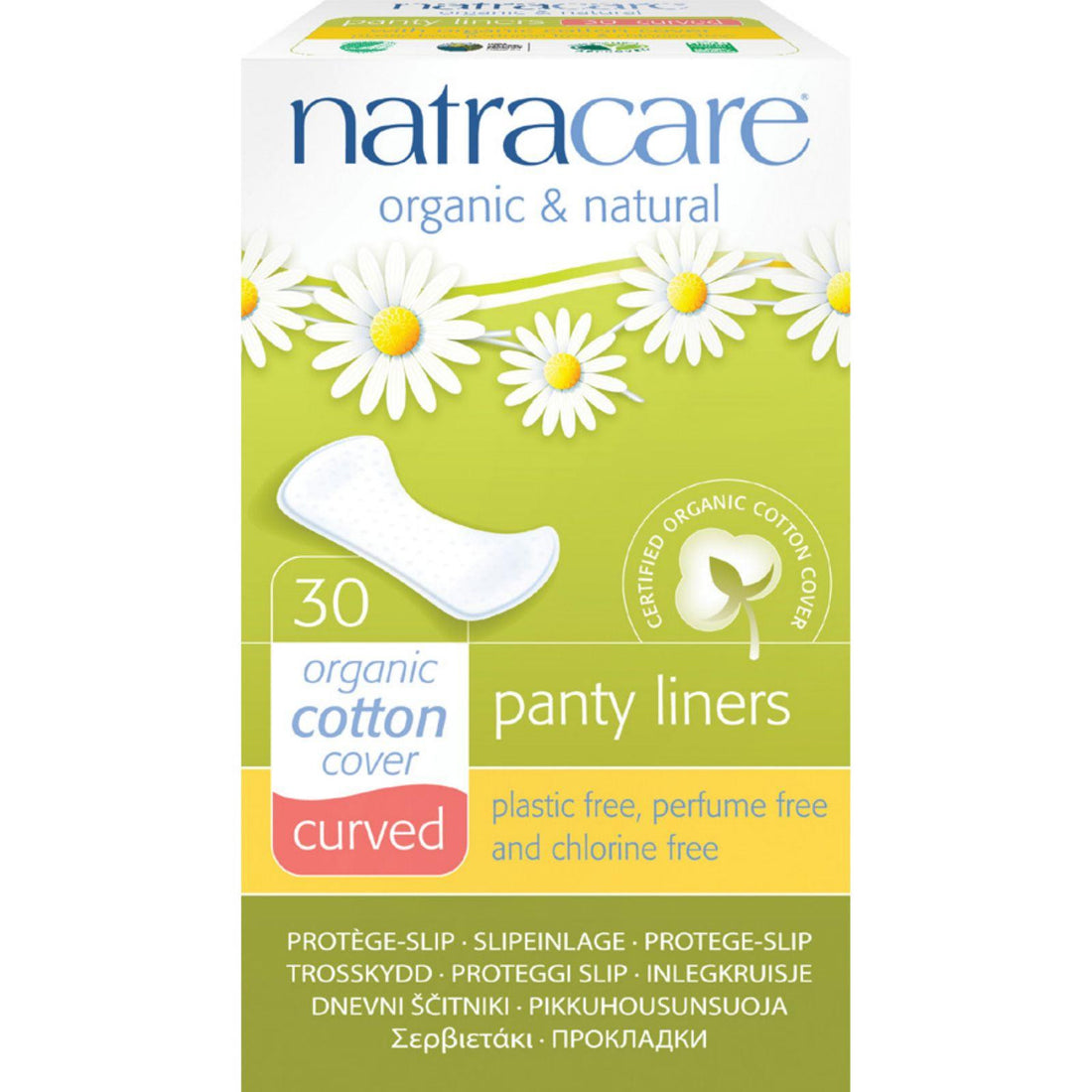 Mother Mantis: Natracare Natural Curved Panty Liners - 30 Pack Natracare