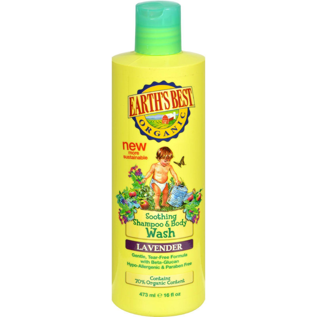 Mother Mantis: Earth's Best Organic Shampoo And Body Wash Lavender - 16 Oz Earth's Best