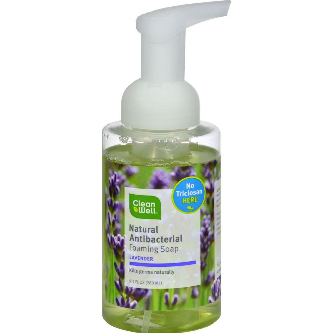 Mother Mantis: Cleanwell All-natural Antibacterial Foaming Hand Wash Lavender Absolute - 9.5 Fl Oz Cleanwell