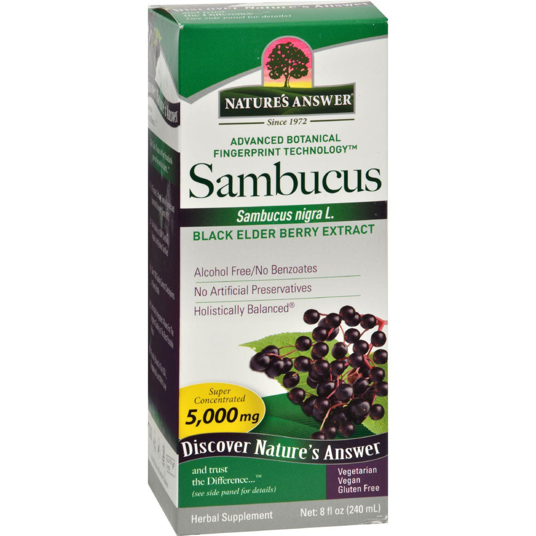 Mother Mantis: Nature's Answer Sambucus Nigra Black Elder Berry Extract - 8 Fl Oz Nature's Answer