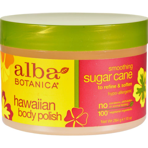 Alba Botanica Hawaiian Body Polish Sugar Cane - 10 Oz Alba Botanica