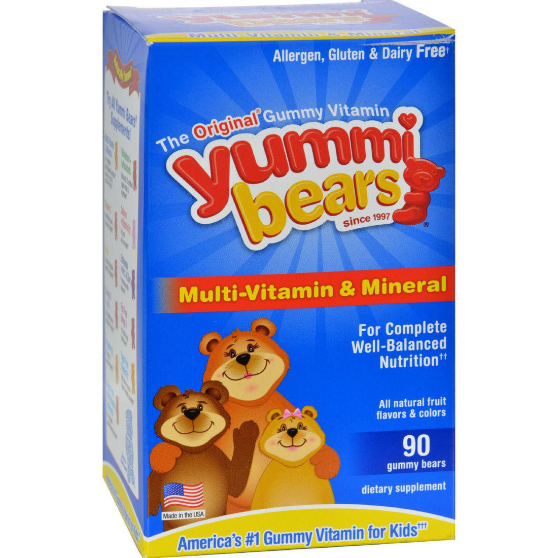Mother Mantis: Hero Nutritionals Yummi Bears Multi-vitamin And Mineral Fruit - 90 Gummies Hero Nutritional Products