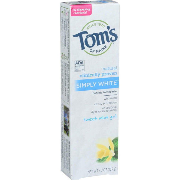 Mother Mantis: Simply White Sweet Mint Toothpaste Tom's Of Maine