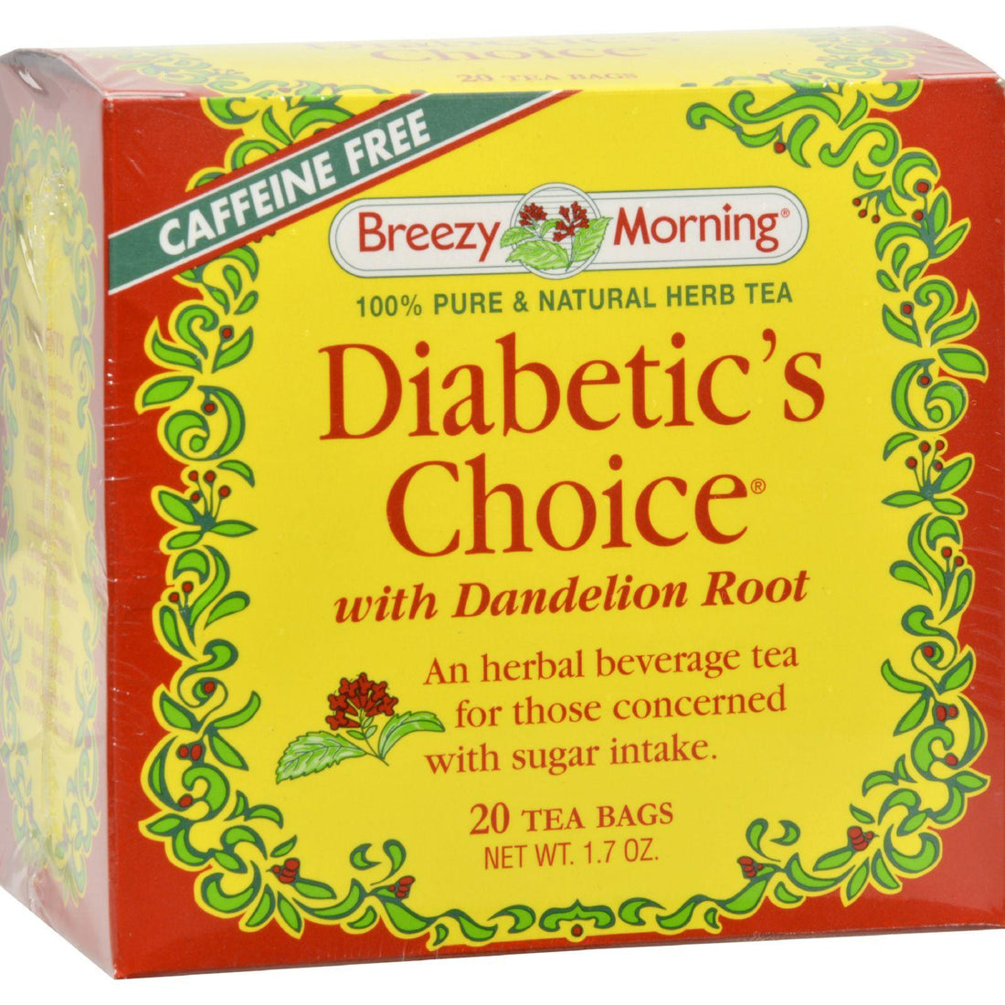 Mother Mantis: Breezy Morning Teas Diabetic's Choice With Dandelion Root - 20 Tea Bags Breezy Morning Teas