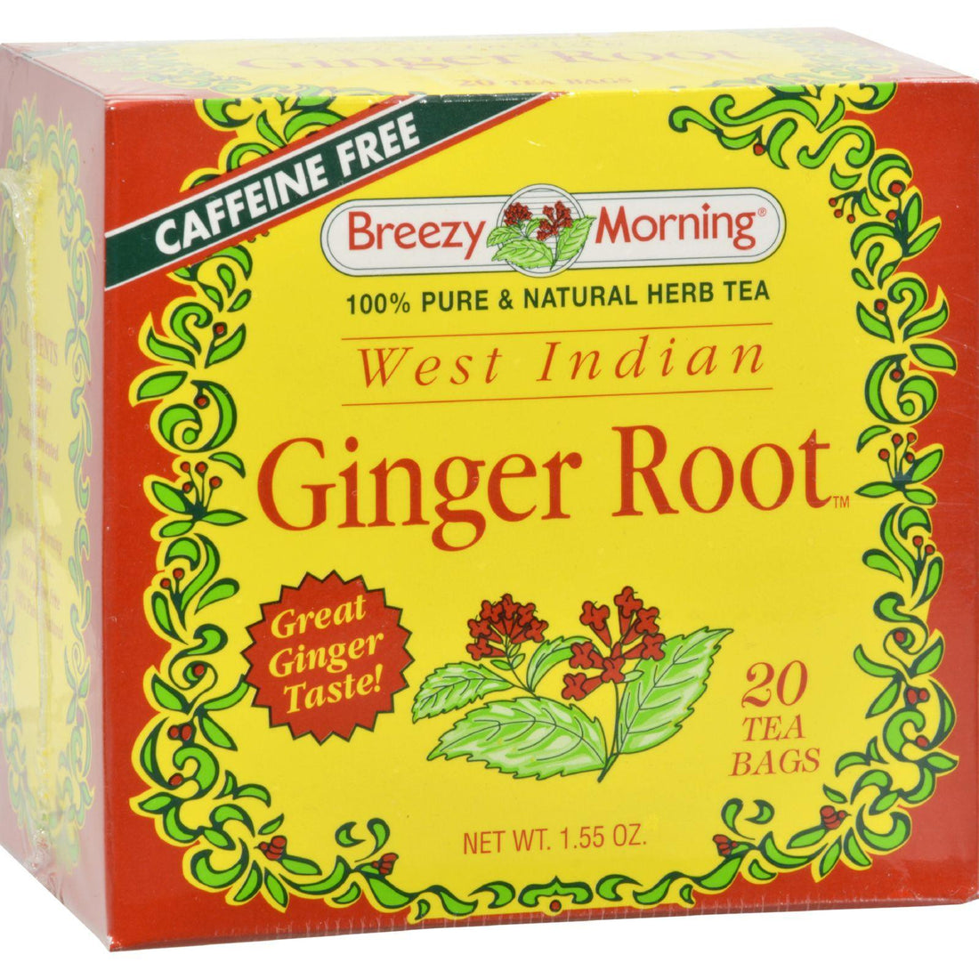 Mother Mantis: Breezy Morning West Indian Ginger Root - 20 Tea Bags Breezy Morning Teas