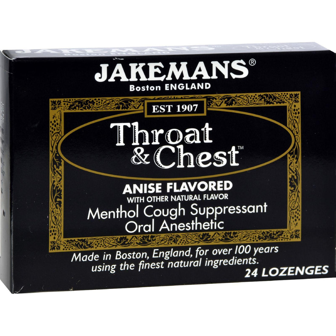 Mother Mantis: Jakemans Throat And Chest Lozenges - Anise - Case Of 24 - 24 Pack Jakemans