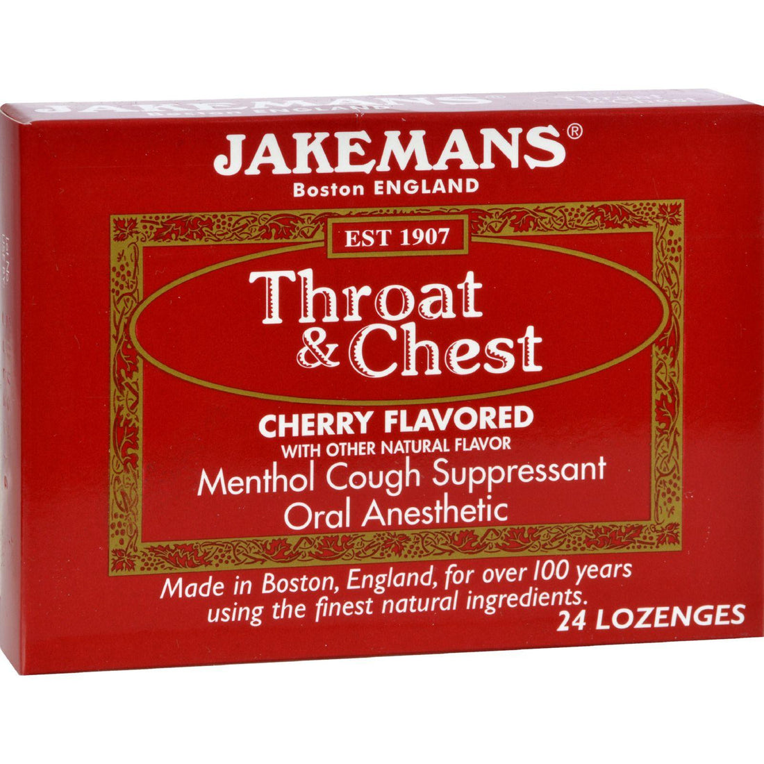 Mother Mantis: Jakemans Throat And Chest Lozenges - Cherry - Case Of 24 - 24 Pack Jakemans