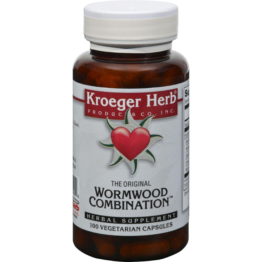 Mother Mantis: Kroeger Herb Wormwood Combination - 100 Vegetarian Capsules Kroeger Herb