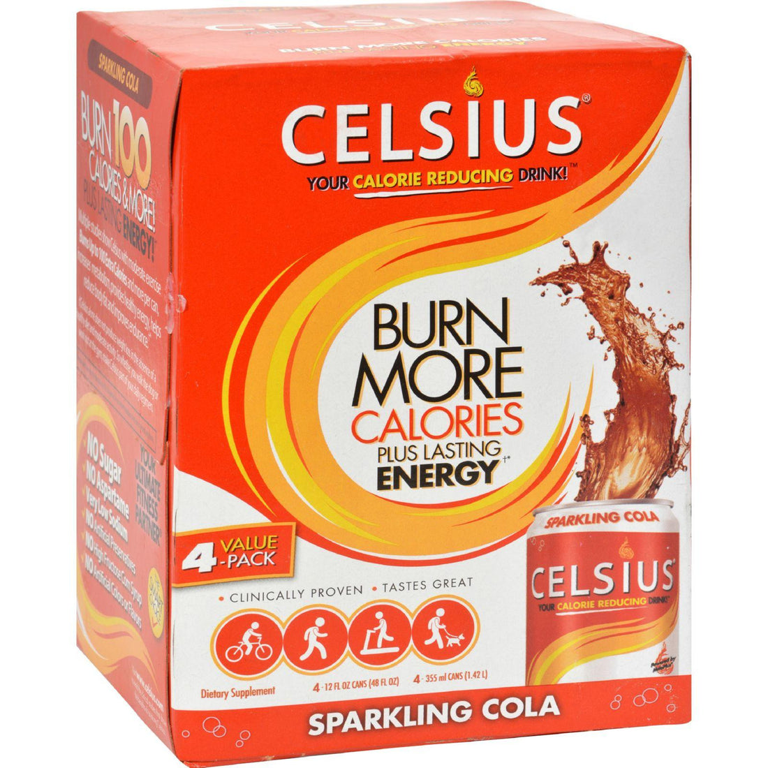 Mother Mantis: Celsius Calorie Burning Drink - Sparkling Cola - 4-12 Oz Celsius