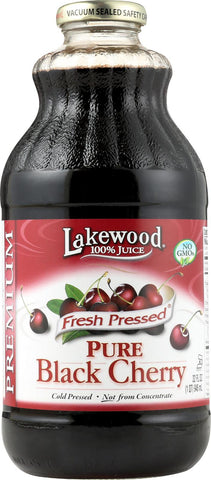 Lakewood Pure Black Cherry Juice - Black Cherry - Case Of 12 - 32 Fl Oz. Lakewood
