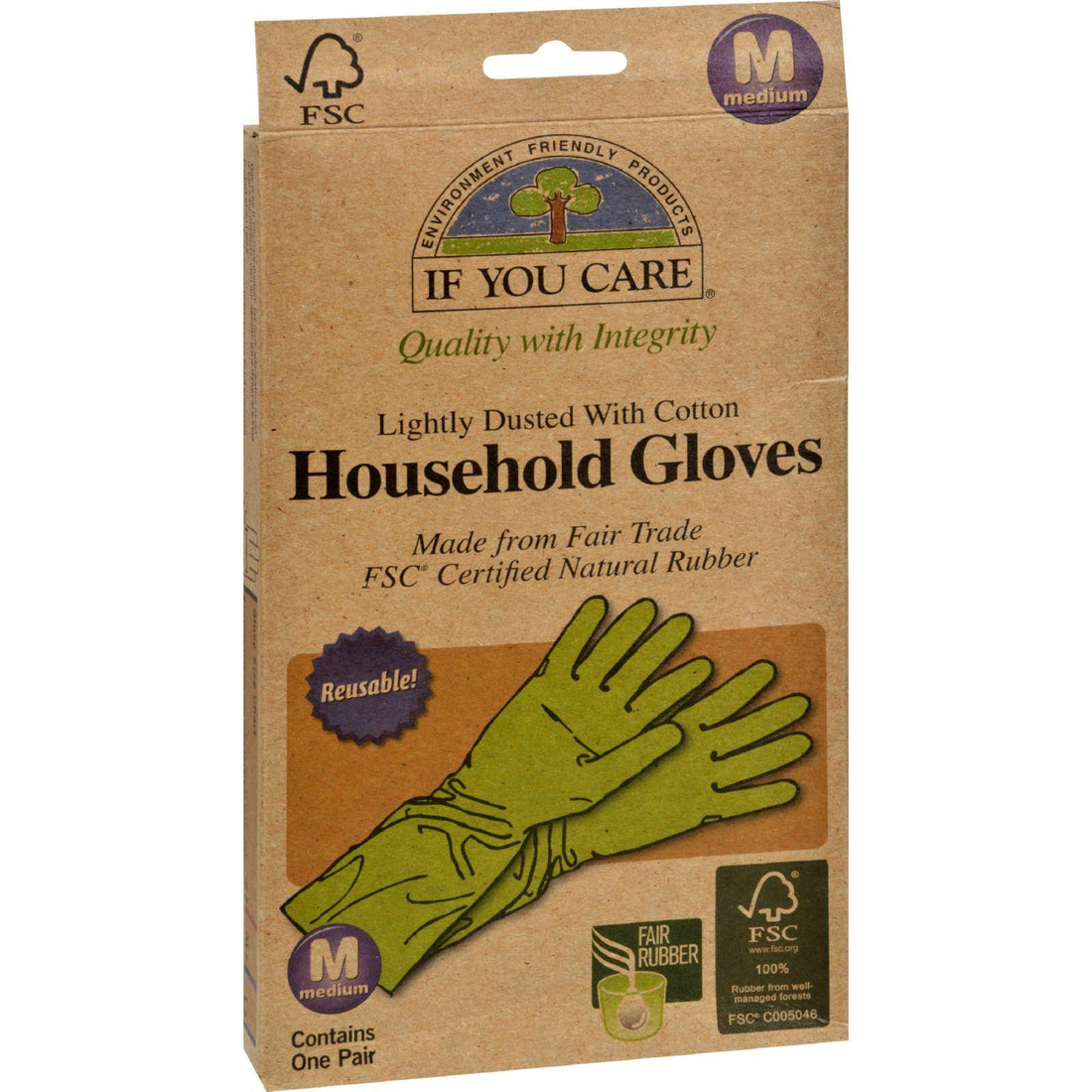 Mother Mantis: If You Care Household Gloves - Medium - 12 Pairs If You Care